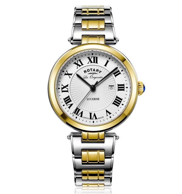 Rotary Les Originales Lucerne Two Tone Gold Swiss Ladies Quartz Watch - image 1