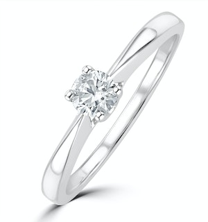 Tapered Design Lab Diamond Engagement Ring 0.25ct H/Si in 925 Silver