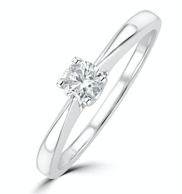 Tapered Design Lab Diamond Engagement Ring 0.25ct H/Si 9K White Gold - image 1