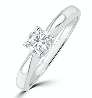 Tapered Design Lab Diamond Engagement Ring 0.33ct H/Si 9K White Gold