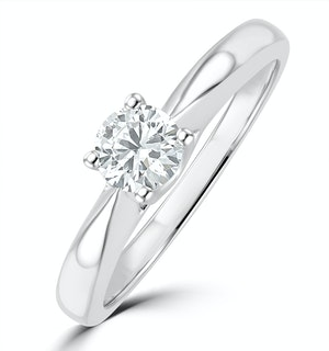 Tapered Design Lab Diamond Engagement Ring 0.33ct H/Si 9K White Gold