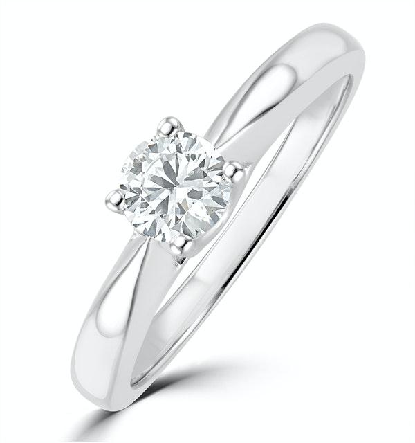 Tapered Design Lab Diamond Engagement Ring 0.33ct H/Si 9K White Gold - image 1