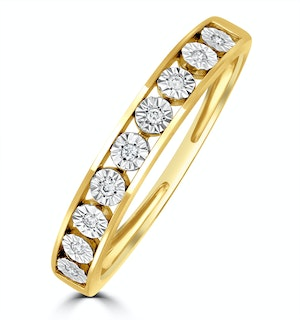 Channel Set Lab Diamond Eternity Ring 0.05ct in 9K Gold