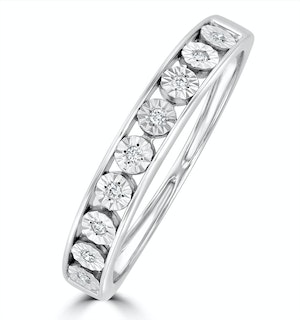 Channel Set Lab Diamond Eternity Ring 0.05ct in 9K White Gold