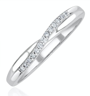 Lab Diamond Half Eternity Wave Ring 0.05ct in 925 Silver