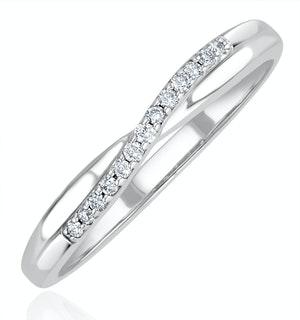 Lab Diamond Half Eternity Wave Ring 0.05ct in 925 Silver