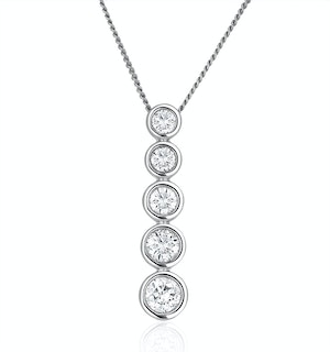 Lab Diamond Life Journey Necklace 0.50ct H/Si in 9K White Gold