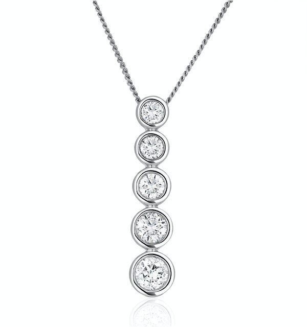 Lab Diamond Life Journey Necklace 0.50ct H/Si in 9K White Gold - image 1