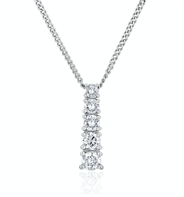 Lab Diamond Life Journey Pendant Necklace 0.25ct H/Si 9K White Gold - image 1