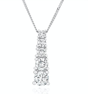 Life Journey Lab Diamond Necklace 1.00ct H/Si in 9K White Gold