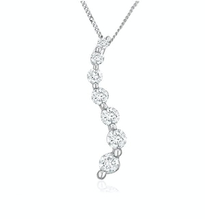 Lab Diamond Life Journey Pendant Necklace 0.25ct H/Si in 9K White Gold