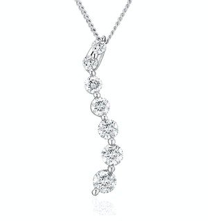 Lab Diamond Life Journey Pendant Necklace 0.50ct H/Si in 9K White Gold