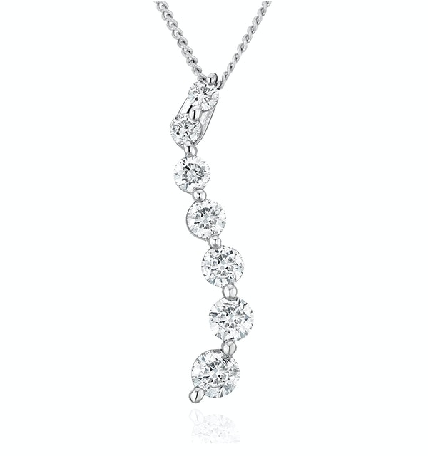 Lab Diamond Life Journey Pendant Necklace 0.50ct H/Si in 9K White Gold - image 1