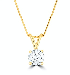 Lab Diamond Solitaire Necklace Pendant 0.25ct H/Si in 9K Gold