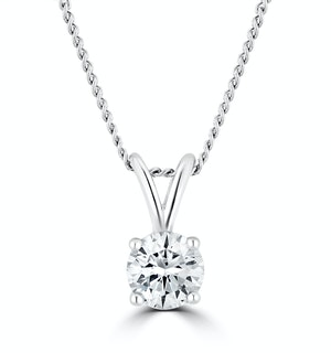 Lab Diamond Solitaire Necklace Pendant 0.25ct H/Si 9K White Gold