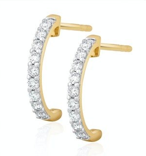 Comfort Huggy Lab Diamond Earrings 0.25ct H/Si in 9K Gold
