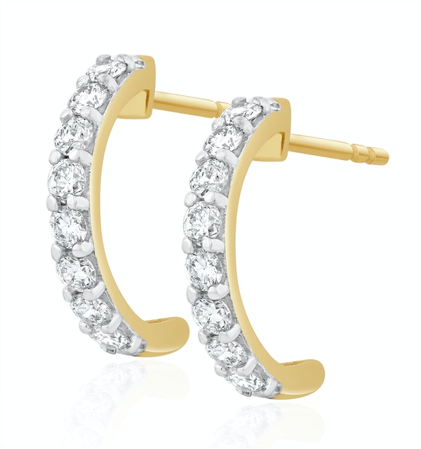 Comfort Huggie Lab Diamond Earrings 0.50ct H/Si in 9K Gold - image 1