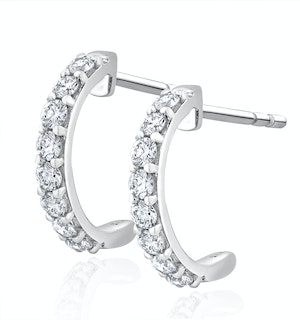 Comfort Huggy Lab Diamond Earrings 0.50ct H/Si in 9K White Gold