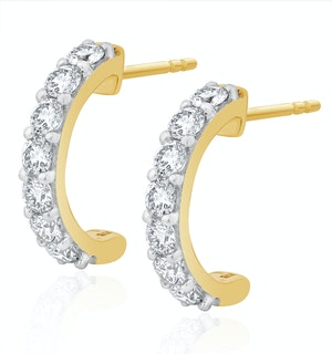 Comfort Huggy Lab Diamond Earrings 1.00ct H/Si in 9K Gold