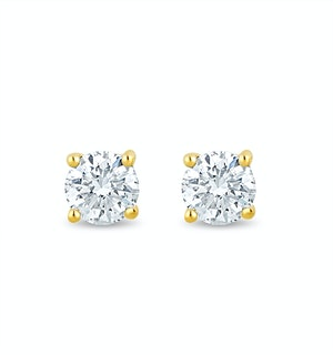 Lab Diamond Stud Earrings 0.10ct H/Si Quality in 9K Gold - 2.4mm