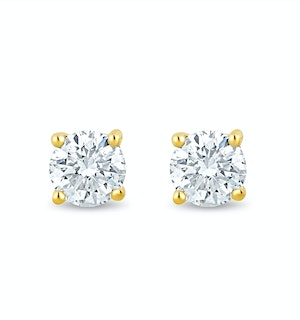 Lab Diamond Stud Earrings 0.20ct H/Si Quality in 9K Gold - 3mm