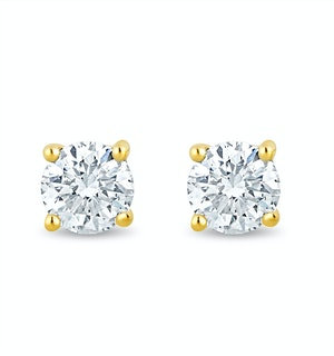 3.6mm Lab Diamond Stud Earrings 0.30ct H/Si in 9K Gold