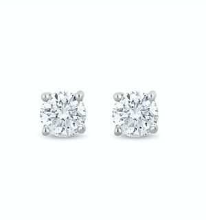 2.4mm Lab Diamond Stud Earrings 0.10ct H/Si in 9K White Gold