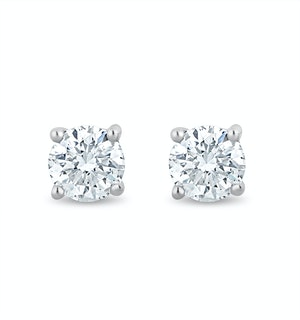 Lab Diamond Stud Earrings 0.20ct H/Si Quality in 9K White Gold - 3mm