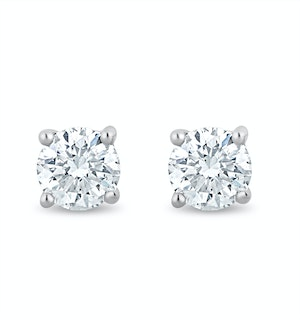 Lab Diamond Stud Earrings 0.30ct H/Si Quality in 9K White Gold - 3.6mm