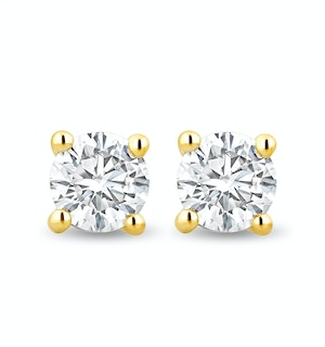 4.2mm Lab Diamond Stud Earrings 0.50ct H/Si in 9K Gold
