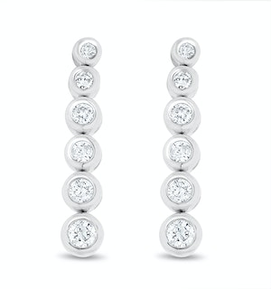 Life Journey Lab Diamond Rubover Drop Earrings 0.25ct in 9K White Gold