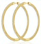 1.50ct Lab Diamond Hoop Earrings H/Si Quality in 9K Gold - 52mm - image 1