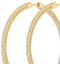 1.50ct Lab Diamond Hoop Earrings H/Si Quality in 9K Gold - 52mm - image 4