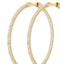 1.00ct Lab Diamond Hoop Earrings H/Si Quality in 9K Gold - 40mm - image 4