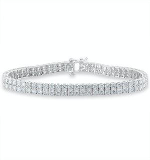 Double Row Lab Diamond Tennis Bracelet 6.20ct in 9K White Gold
