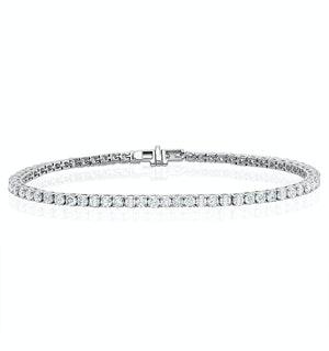 6ct Lab Diamond Tennis Bracelet Claw Set in 9K White Gold