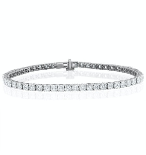 8ct Lab Diamond Tennis Bracelet Claw Set in 9K White Gold