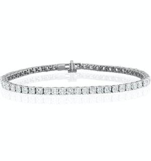 10ct Lab Diamond Tennis Bracelet Claw Set in 9K White  Gold