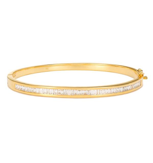 18K Gold Diamond Bangle 1.50ct H/Si - image 1