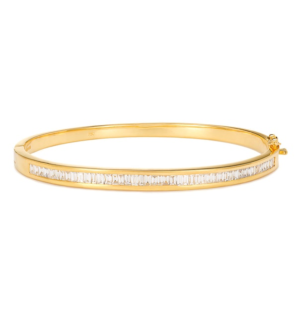 18K Gold Diamond Bangle 1.50ct H/Si - image 1