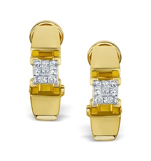 Diamond 0.36ct 18K Gold Earrings - RTC-P3214