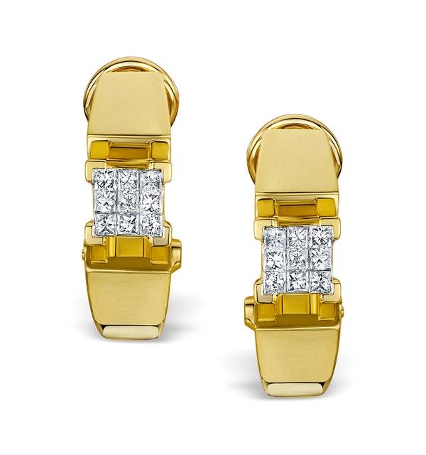 Diamond 0.36ct 18K Gold Earrings - RTC-P3214 - image 1