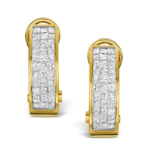 Diamond 1.30ct 18K Gold Earrings - RTC-P3216