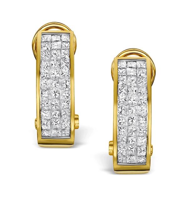 Diamond 1.30ct 18K Gold Earrings - RTC-P3216 - image 1