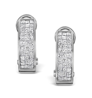 Diamond 1.30ct 18K White Gold Earrings - RTC-P3217