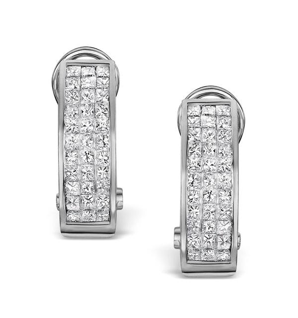 Diamond 1.30ct 18K White Gold Earrings - RTC-P3217 - image 1