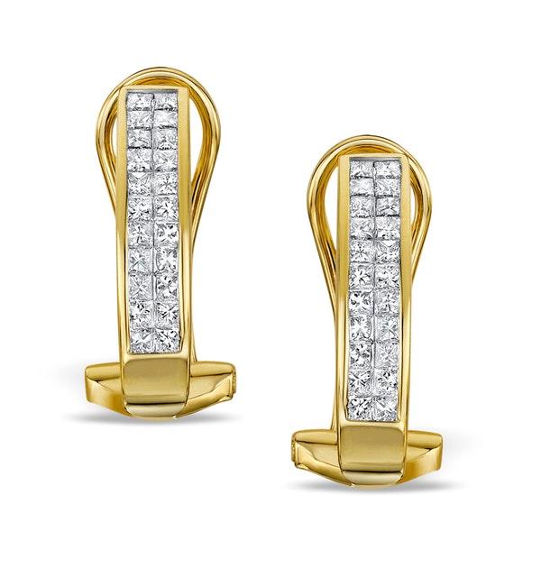 Diamond 0.68ct 18K Gold Earrings - RTC-P3218 - image 1