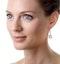 18K White Gold an gelina 3ct Diamond and Yellow Diamond Halo Earrings - image 3