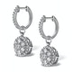 Halo Diamond Drop Earrings - Florence - 1.50ct - in 18K White Gold - image 2