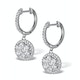 Halo Diamond Drop Earrings - Florence - 1.09ct - in 18K White Gold - image 2
